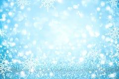 Defocused Hintergrund des blauen Weihnachtsfeiertags Lizenzfreies Stockfoto
