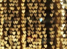 Defocused hjärtor Fotografering för Bildbyråer