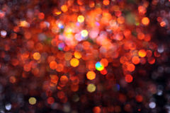Defocused holiday lighitng Stock Photo