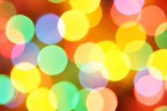 Defocused holiday lights Royalty Free Stock Photo