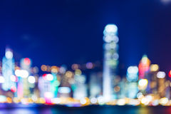 Defocused Hong Kong skyline Royalty Free Stock Photo