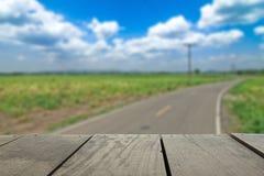 Defocused i plama wizerunek tarasowy sceneria widok Fotografia Royalty Free