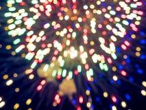 Defocused image of fireworks Stock Image