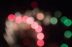 Defocused image of fireworks Stock Photos