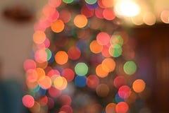 Defocused Image of Illuminated Christmas Tree Stock Photos