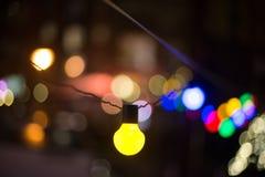 Defocused Image of Illuminated Lights at Night Stock Photos