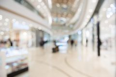 Defocused interior of the luxury shopping center. royalty free stock photo