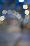 Defocused julsreet Royaltyfria Foton