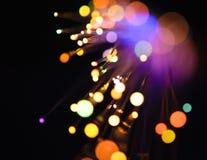 defocused lampor Arkivbild