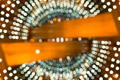 defocused lampor för bakgrund abstrakt bokeh Royaltyfri Bild
