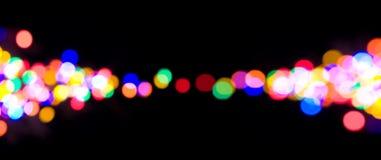 defocused lampor för jul Fotografering för Bildbyråer