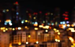 defocused lampor för stad Royaltyfria Foton