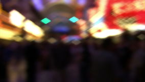 Defocused Las Vegas Casino Lights stock video footage