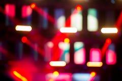 Defocused Lichter auf Konzertstadium Stockbilder