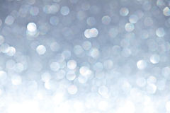 Defocused Ligh Silver Bokeh Stock Images