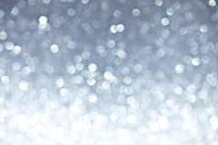 Defocused Ligh Silver Sparkles Royalty Free Stock Photos