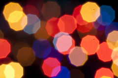 Defocused light. Dots bokeh background Royalty Free Stock Images