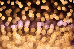 Defocused light. Beautiful defocused light  at night Stock Images
