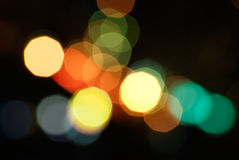 Defocused light dots bokeh background Royalty Free Stock Images