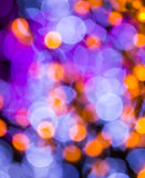 Defocused light in night time Royalty Free Stock Photography