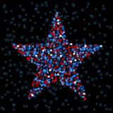 Defocused light star Stock Images