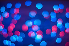 Defocused lights. Royalty Free Stock Images