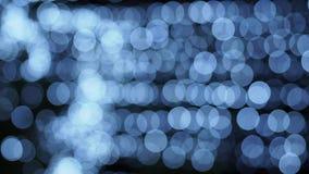 Defocused lights, abstract motion stock footage