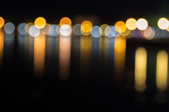 Defocused lights background. abstract bokeh Stock Photos
