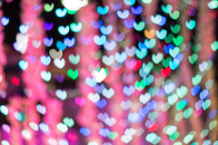 Defocused lights background. Heart bokeh Royalty Free Stock Photo