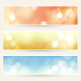 Defocused lights backgrounds set Royalty Free Stock Photos