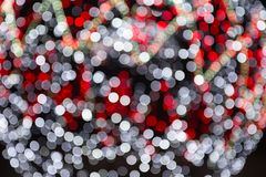 Defocused lights blurry background, bokeh Stock Photos