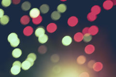 Defocused lights bokeh abstract background. Stock Image