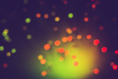 Defocused lights bokeh abstract background. Stock Images