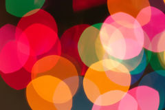 Defocused lights Stock Image