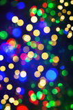 Defocused lights from christmas decorations. abstract shiny back Royalty Free Stock Photography