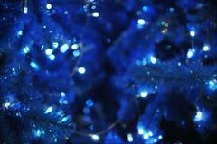 Defocused Lights. Defocused Christmas Tree Lights Background Stock Photo