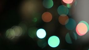 Defocused lights of Christmas tree stock video footage