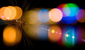 Defocused lights of the city. Stock Images
