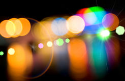Defocused lights of the city. Royalty Free Stock Photo