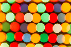 Defocused lights, colorful circles abstraction Stock Images