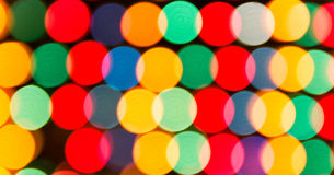 Defocused lights, colorful circles abstraction Royalty Free Stock Photo