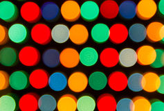 Defocused lights, colorful circles abstraction Royalty Free Stock Image