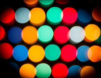 Defocused lights, colorful circles abstraction Stock Photos
