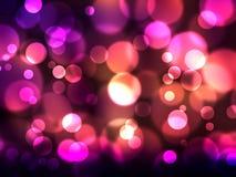 Defocused lights. Elegant abstract background with defocused lights stock illustration