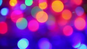 Defocused lights, motion background stock footage