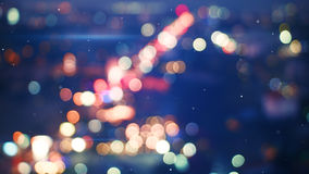 Defocused lights of night city Stock Photos