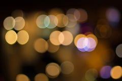 Defocused lights Stock Photos