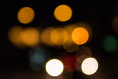 Defocused Lights at Street Royalty Free Stock Images