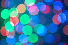 Defocused ligths of Christmas Royalty Free Stock Photography