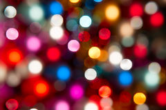 Defocused ligths. Of Christmas tree royalty free stock photography